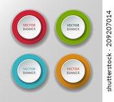 vector banners set | Shutterstock .eps vector #209207014