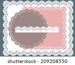 set of round  square lace frames | Shutterstock .eps vector #209208550