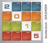 simple editable vector calendar ... | Shutterstock .eps vector #209209009