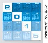 simple editable vector calendar ... | Shutterstock .eps vector #209209069
