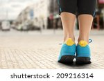 sport shoes of blue  | Shutterstock . vector #209216314