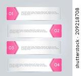 infographics template design... | Shutterstock .eps vector #209218708