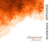 watercolor coffee background...   Shutterstock .eps vector #209223424