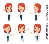 set of reception character in... | Shutterstock .eps vector #209229166