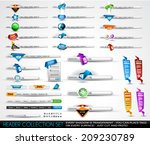 big collection of headers and... | Shutterstock .eps vector #209230789