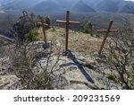 Crosses And Old Church On The...