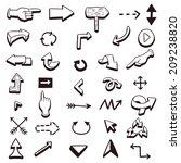vector set of various hand... | Shutterstock .eps vector #209238820