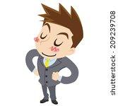 proud young businessman | Shutterstock .eps vector #209239708