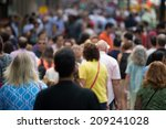crowd of people walking on... | Shutterstock . vector #209241028