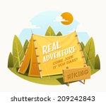 camping tent. vector... | Shutterstock .eps vector #209242843