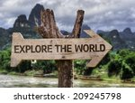 Explore The World Wooden Sign...