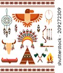 aztec and mayan indian... | Shutterstock .eps vector #209272309
