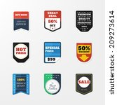 set of badges in the style... | Shutterstock .eps vector #209273614