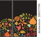 vertical banner set with... | Shutterstock .eps vector #209277790