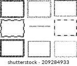 set of grunge frames  | Shutterstock .eps vector #209284933