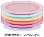 illustration of a stack of... | Shutterstock .eps vector #209290348