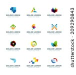 abstract icons or logotypes... | Shutterstock .eps vector #209290843