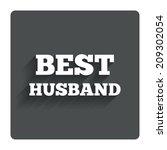 best husband sign icon. award...