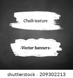 chalked banners of blackboard... | Shutterstock .eps vector #209302213