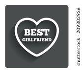 best girlfriend sign icon....