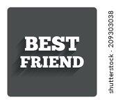best friend sign icon. award...