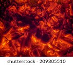 red hot smoldering coals ready... | Shutterstock . vector #209305510
