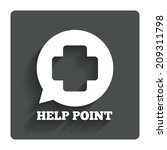 help point sign icon. medical...