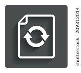 file document refresh icon....