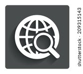global search sign icon. world... | Shutterstock . vector #209315143