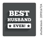 best husband ever sign icon....