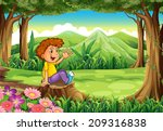 illustration of a stump with a... | Shutterstock . vector #209316838
