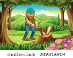 illustration of a hardworking... | Shutterstock . vector #209316904