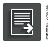 export file icon. file document ...