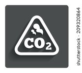 co2 carbon dioxide formula sign ...