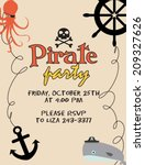 pirate party | Shutterstock .eps vector #209327626