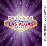 vector las vegas sign over the... | Shutterstock .eps vector #209329414