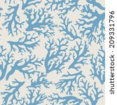 Coral Seamless Pattern On Beige ...