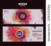 Vector Template Banners With...