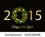 abstract beauty 2015 new year... | Shutterstock .eps vector #209336008