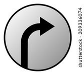 the button with the arrow to... | Shutterstock .eps vector #209336074