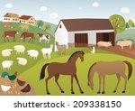 farm | Shutterstock . vector #209338150