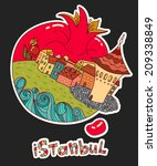 vector abstract istanbul city... | Shutterstock .eps vector #209338849
