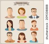 vector flat characters   Shutterstock .eps vector #209338888