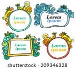 doodle frames | Shutterstock .eps vector #209346328