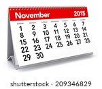 november 2015   calendar | Shutterstock . vector #209346829