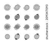 globe icons set. | Shutterstock .eps vector #209347093