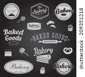set of vintage bakery badges... | Shutterstock . vector #209351218