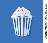 popcorn symbol clean vector | Shutterstock .eps vector #209352160