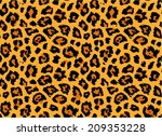 Leopard / cheetah skin seamless pattern, abstract animal background, vector illustration - stock vector
