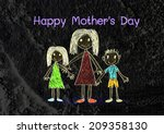 happy mothers day card with... | Shutterstock . vector #209358130